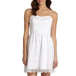 Lilly Pulitzer Size 4 White Surrey Dress Floral